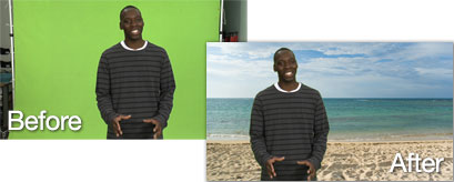Green Screen: Before & After