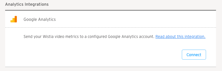 Connecting Google Analytics and Wistia
