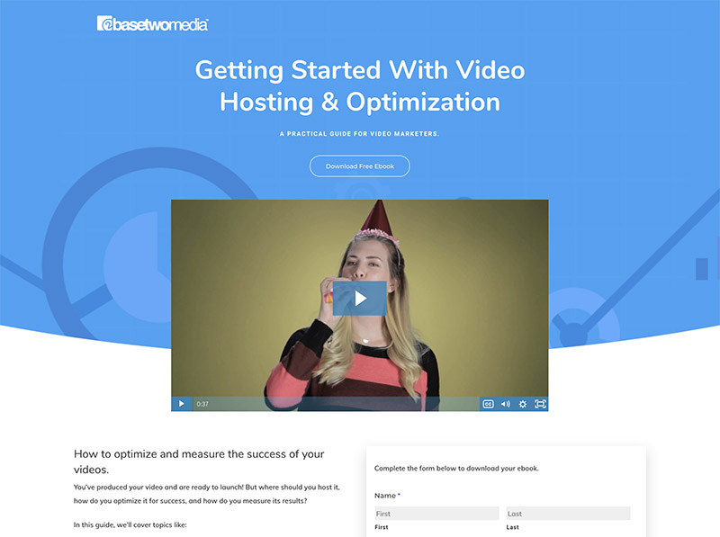 Using Video on a Landing Page